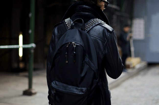 Street Style - Black Studded Givenchy Backpack