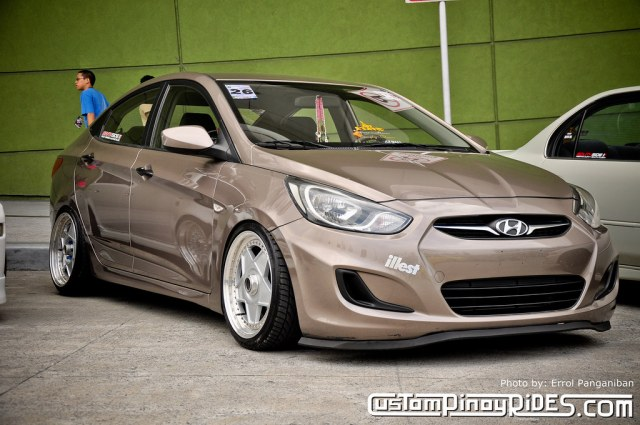 Korean Star - Hyundai Accent Stanced and Hellaflushed