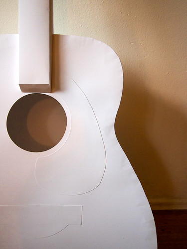 Paper Instruments - acoustic guitar detail