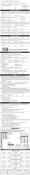 NCO, NSO, IMO & IEO 2013   2014 Class 6 First Level Sample Papers