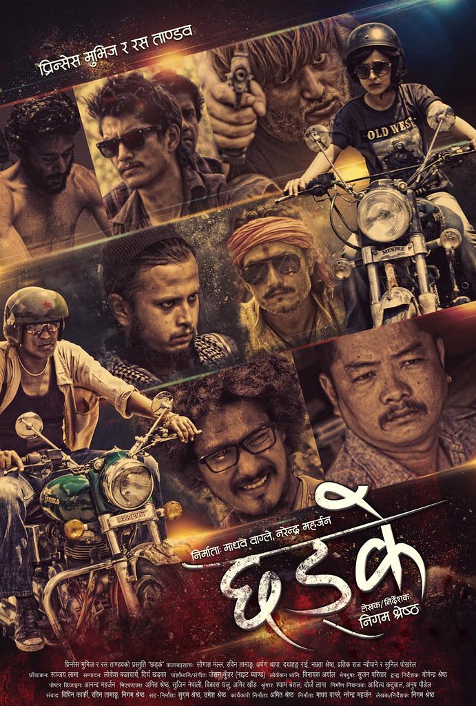 Chhadke Nepali film official poster - Royal Gang vs. Kuri Gang