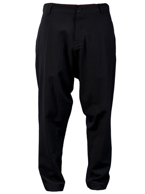 DAMIR DOMA  $749.00       STYLE NO. PINTANO 905 99   From Damir Doma, an ankle cropped low crotch full cut wool trouser