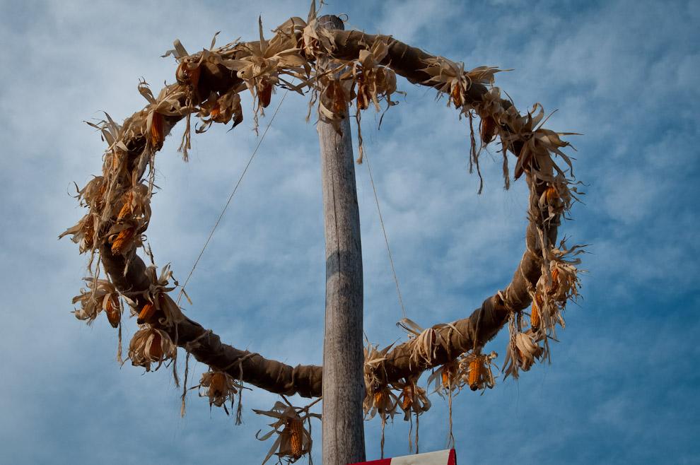 En la edición 2012 del Chopp Fest de Colonia Obligado, la organización preparó unos adornos especiales con elementos basados en maíz y trigo, símbolo de la cosecha y la época de abundancia, motivo de las fiestas. (Elton Núñez)