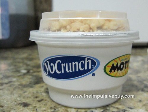 YoCrunch Vanilla Nonfat Yogurt with Mott's Strawberry Applesauce Begging to be Opened