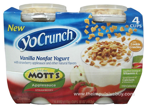 YoCrunch Vanilla Nonfat Yogurt with Mott's Strawberry Applesauce
