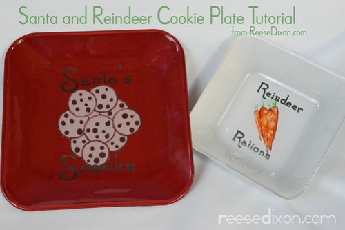 Santa and Reindeer Cookie Plates