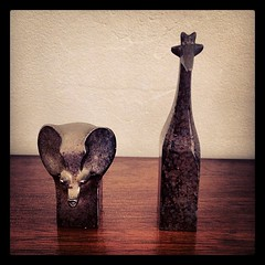 Gunnar Cyren elephant and giraffe for Dansk Designs