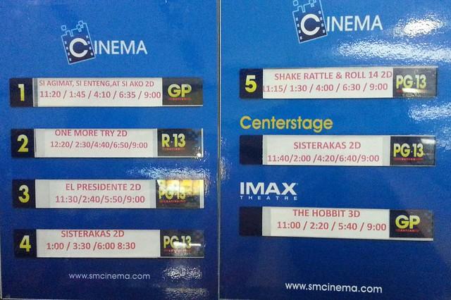 SM Cinemas Movie Schedule