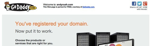 andyrush.com godaddy parked page