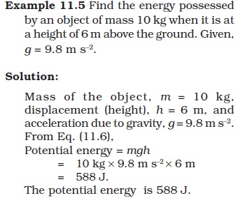NCERT Class IX Science Chapter 11 Word and Energy Image by AglaSem