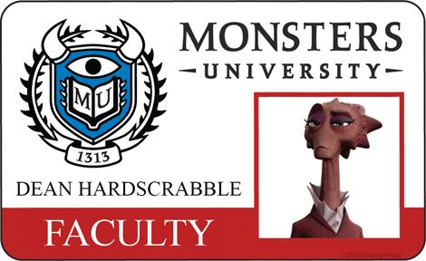 Monster University - Dean Hardscrabble ID