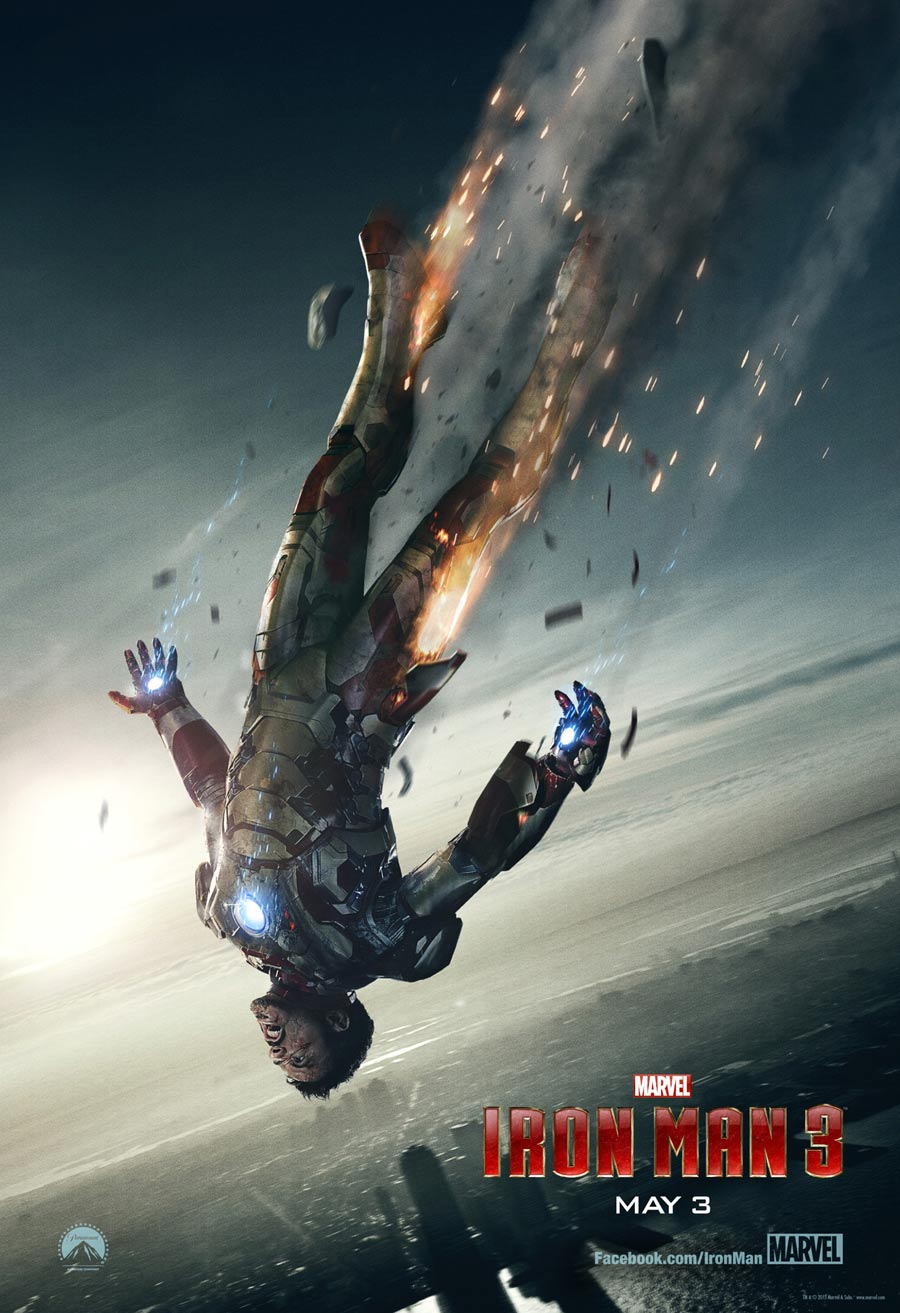 Iron Man 3 Falling Poster