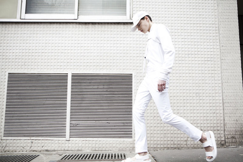 TUUKKA13 - INSPIRATION MOOD BOARD: ALL WHITE EVERYTHING - Samuel Fasse by Romain Sellier for Fiasco Hommes Issue #3 - 2