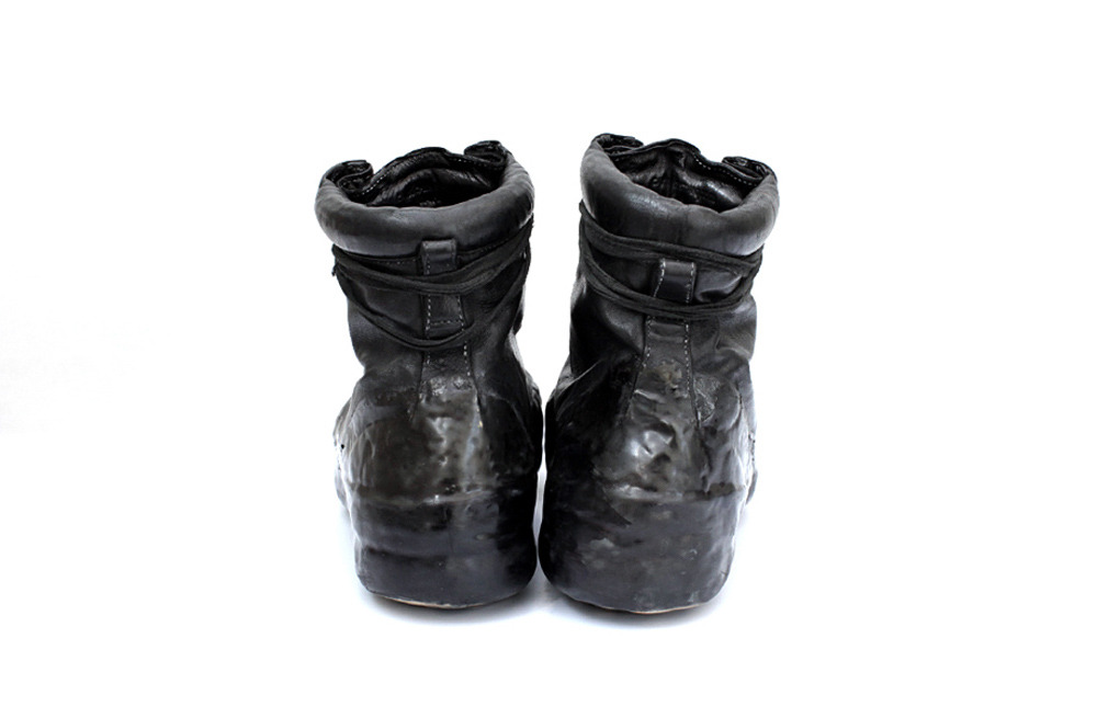 CAROL CHRISTIAN POELL BLACK OBJECT DYED DRIP-RUBBER LEATHER SNEAKER 3