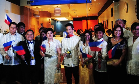 VIPs and guests flaunts their Filipiniana themed ensembles during the Global Pinoy Center launch at the SM City San Lazaro.