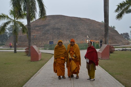 Buddhist Monk at Ramabhar Stupa , Kushinagar