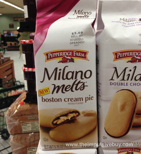 Pepperidge Farms Boston Creme Pie Milano Melts