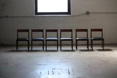 Dashing Danish Mid Century Modern Poul Volther Teak Dining Chairs for Frem Rojle (Denmark, 1960's)