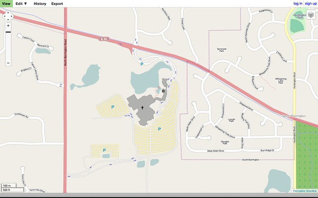 Willow Creek Church on OpenStreetMap: After