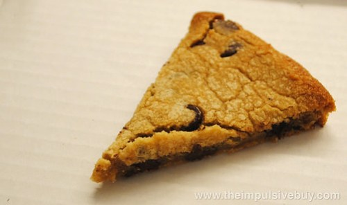 Papa John's Mega Chocolate Chip Cookie Slice
