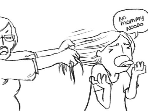 pulling hair