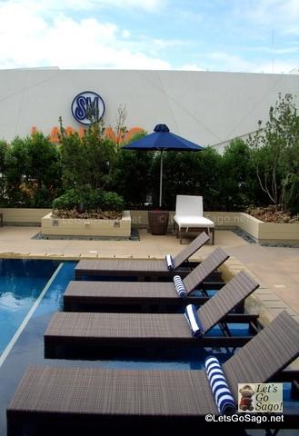 Hotel Pool Area overlooking SM Lanang Mall