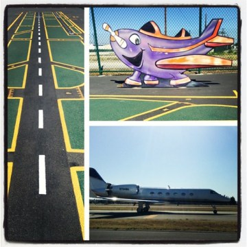 Fun afternoon at the van nuys airport observation area.