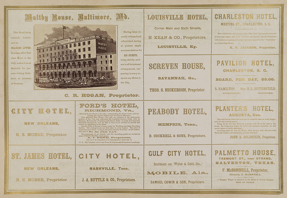 Advertisements for Maltby House, Baltimore and twelve oth\u2026 Flickr