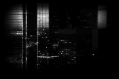 8685134205 5e05884138 Skyline Windows Black White Pixelated Dallas Texas Night SVA112