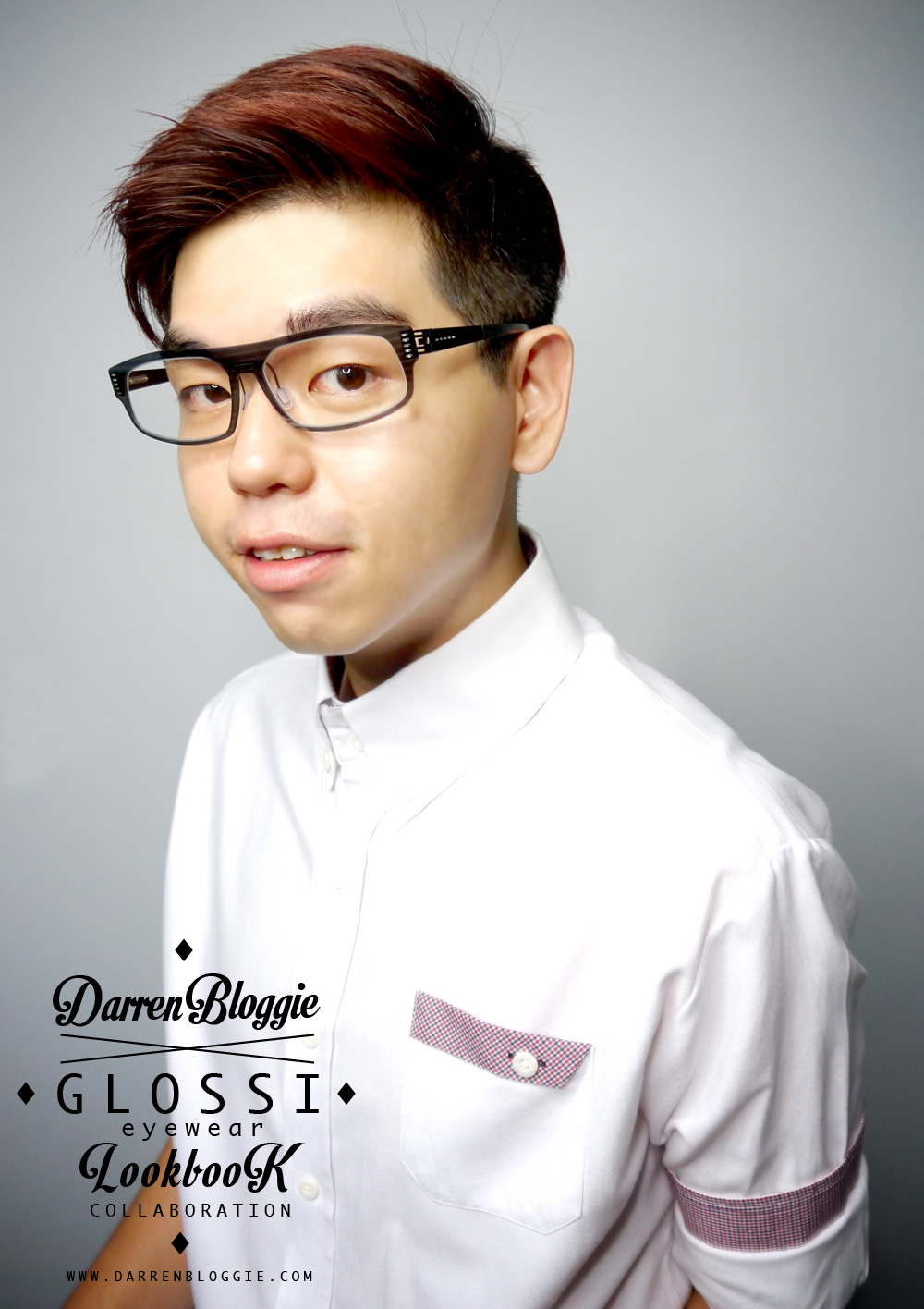 4 different look with glossi eyewear