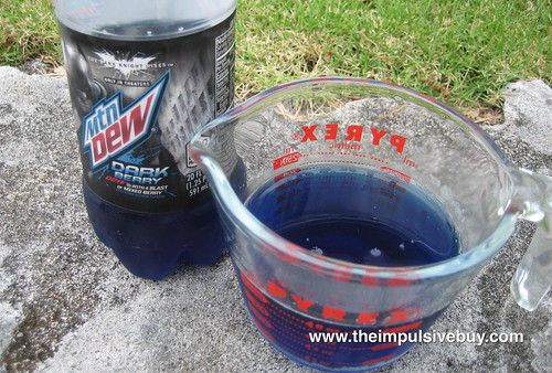 Mountain Dew Dark Berry Closeup