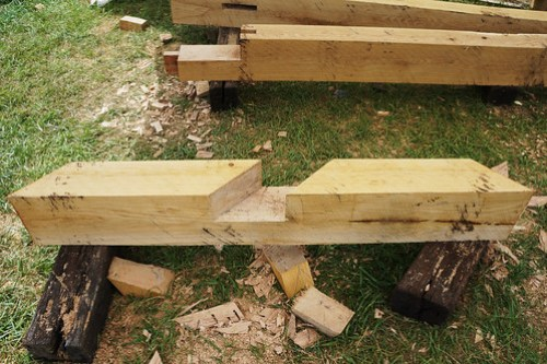 Sill beam half lap joint