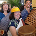 The University of Hawaii leading the start of the Smithsonian Folklife Festival on June 27.