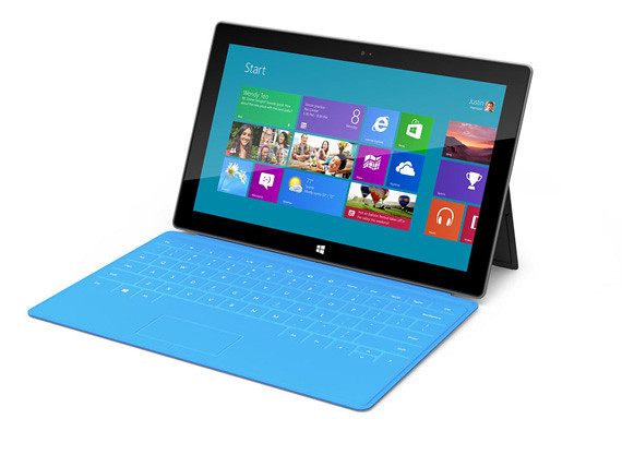 Detalles Microsoft Surface tablet