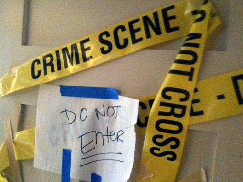 Crime scene estate sale
