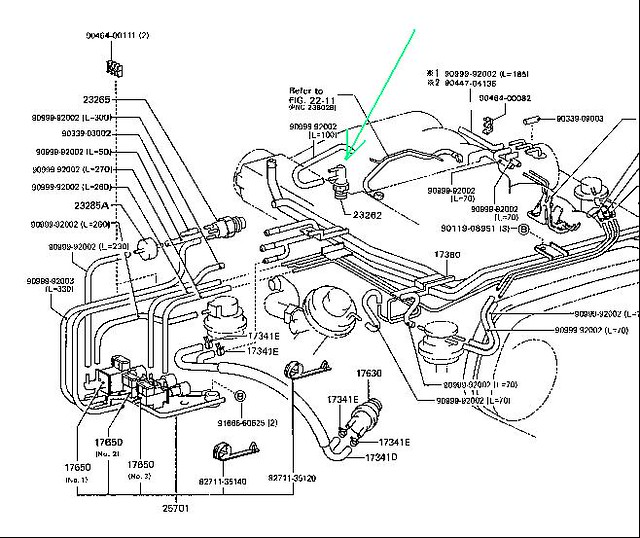Two vacuum line problems30 95 4x4 pickup - YotaTech Forums