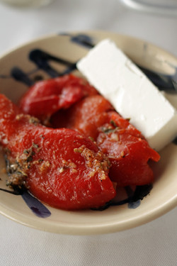 peppers and feta