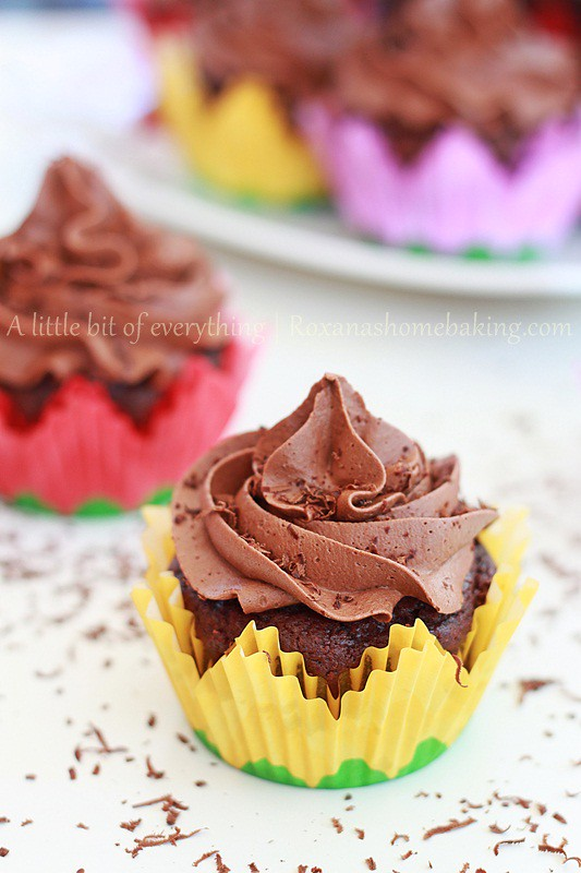 Chocolate Cupcakes with Chocolate Frosting from Roxanashomebaking.com