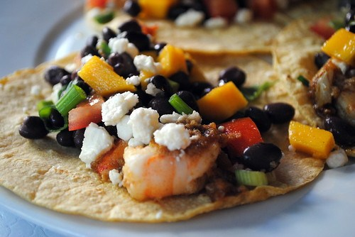 Shrimp with Black Bean & Mango Salsa