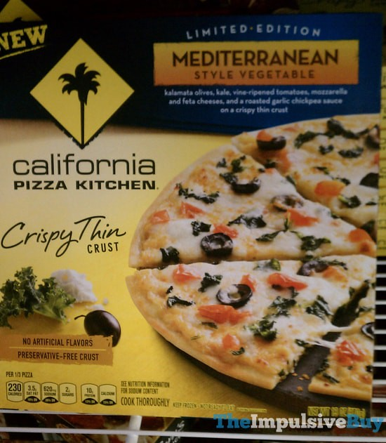 California Pizza Kitchen Limited Edition Mediterranean Style Vegetable Crispy Thin Crust Pizza
