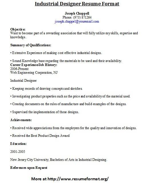 Industrial Designer Resume Format For more industrial resu\u2026 Flickr