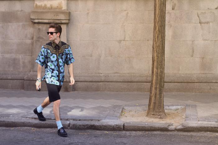 Prada shirt, Acne shorts, American Apparel socks and Jil Sander shoes