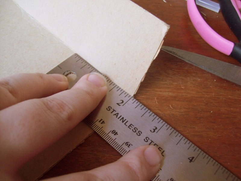 Repeat all the steps for box top - but one-sixteenth inch smaller measurements