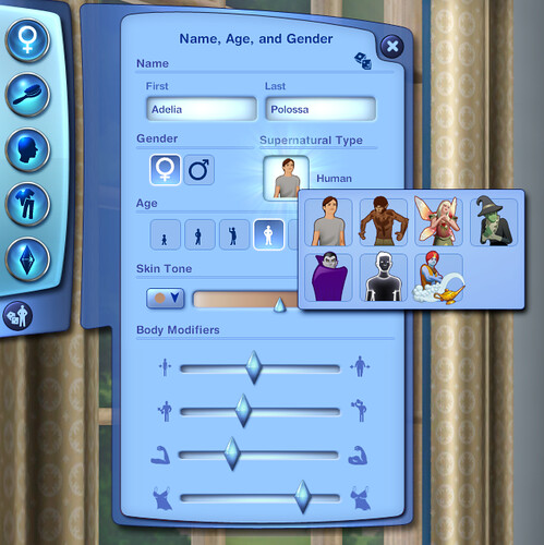 Create  A Sim Supernaturals