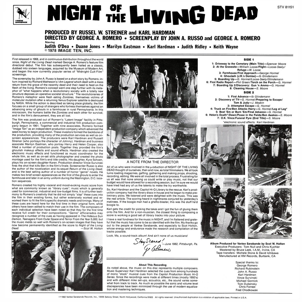 Night Of The Living Dead Farmhouse Night Of The Living Dead Lp Cover Art