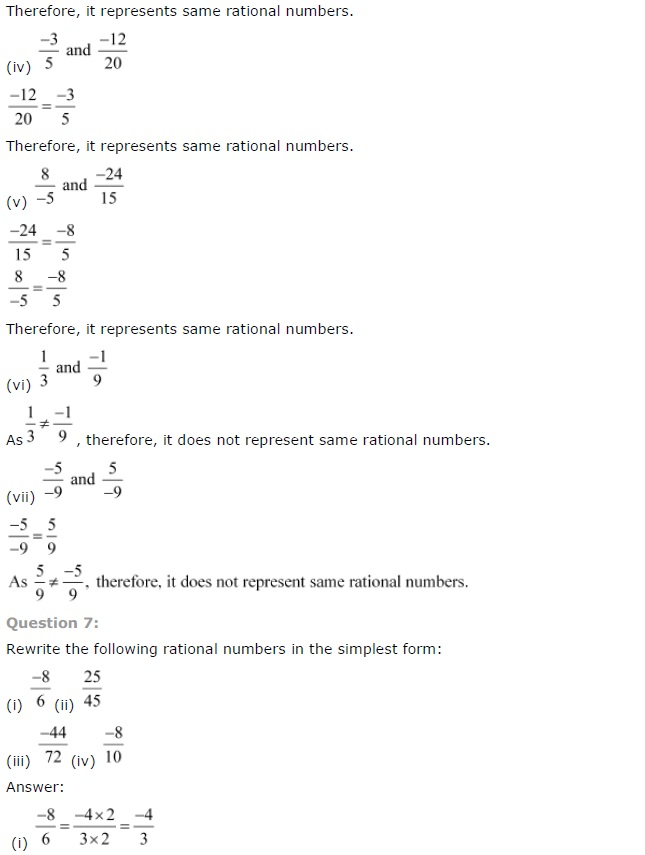 NCERT Solutions for Class 7th Maths Chapter 9   Rational Numbers Image by AglaSem