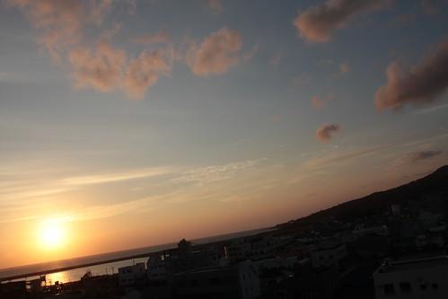 福江島の朝日