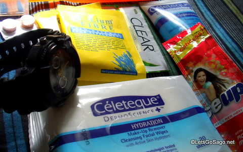Travel Essentials (Meds, C-Lium, Celeteque Facial Wipes)
