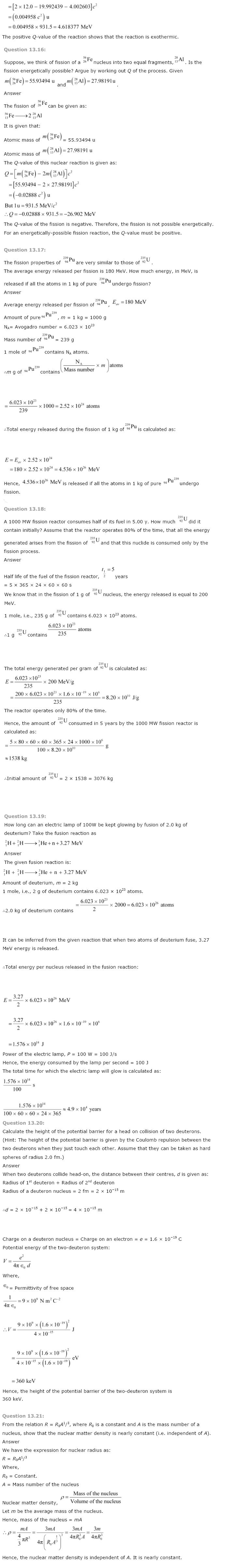 CBSE NCERT Solutions for Class 12th Physics