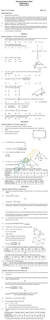 CBSE Board Exam 2013 Sample Papers (SA1): Class IX   Mathematics